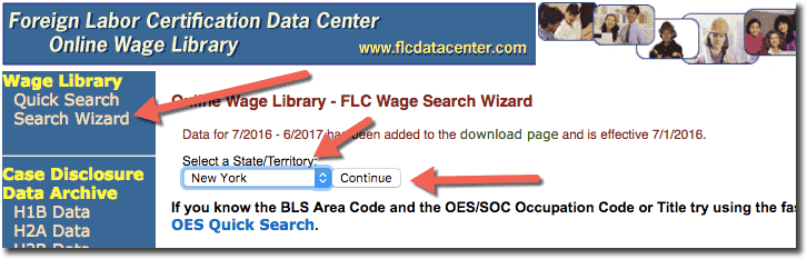 Find the State on FLCDataCenter for H1B LCA
