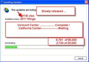 H1B cap count updates 2011 Vermont Service Center
