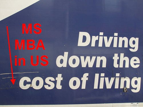 MS or MBA Cost of Living in USA Why different