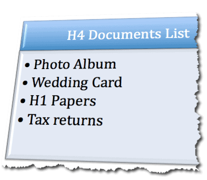 Passport documents list for married