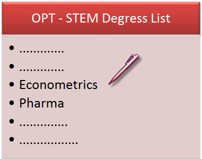 New OPT STEM Degrees list 2012 by DHS