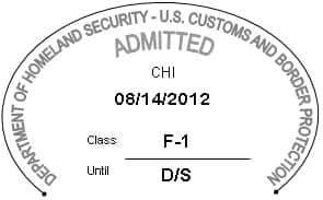 I94-F1 Visa