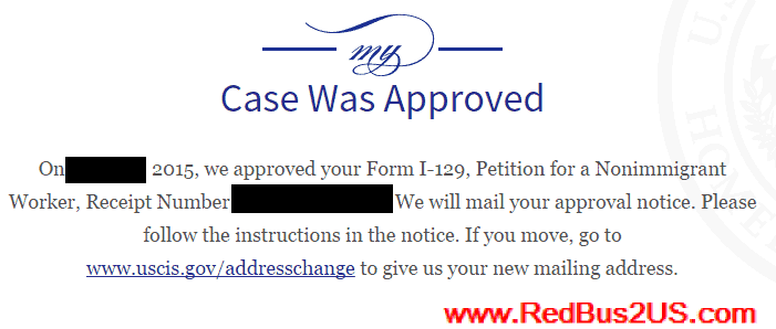 USCIS Case Was Approved Status