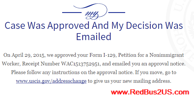 USCIS Case Was Approved and My Decision Was Emailed Status
