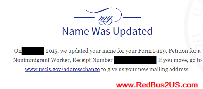 USCIS Status Name Was Updated