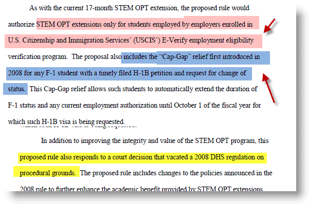 24 Month STEM OPT Extension rule Summary