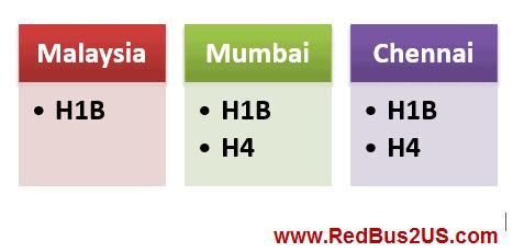 Mumbai Malaysia and Chennai H1B H4 Visa Stamping Experiences