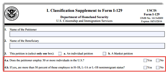 L1 Visa Fee Increase Guidance by USCIS Official 2016