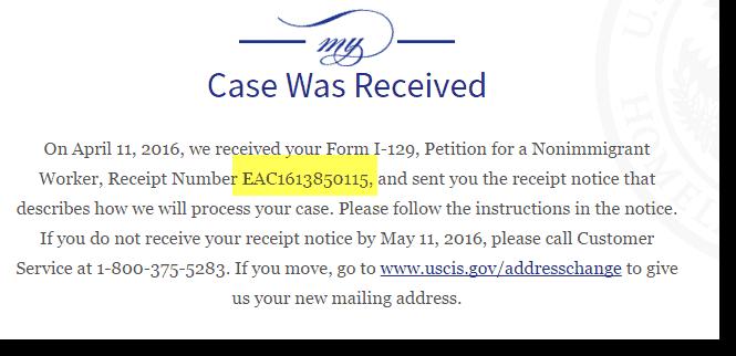 H1B 2017 Regular Quota Petition Case