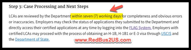 H1B LCA Processing time