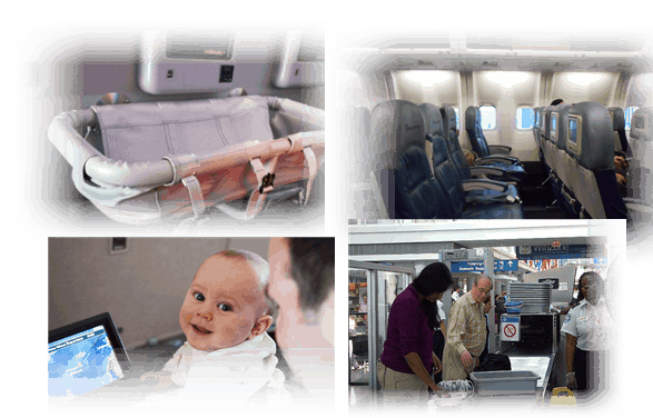 USA Flight Travel with Baby at Security Check Airport and Inside Flight
