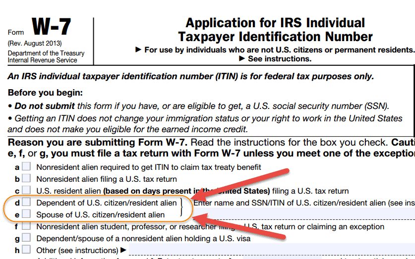 ITIN Details for Tax filing dependents H4 Visa