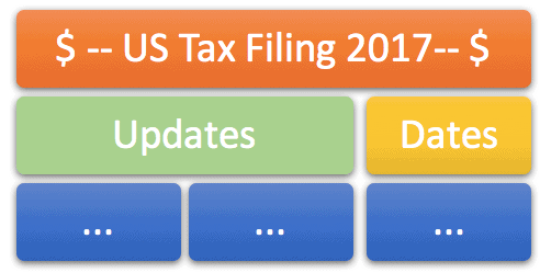 US Tax Filing For 2017 - H1B -H4 - L1 Visas Updates- Dates and Brackets