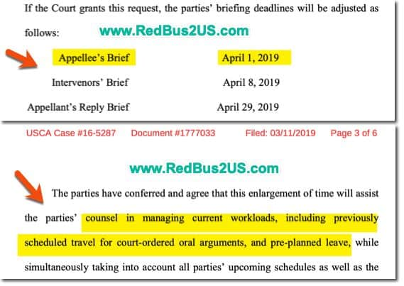 DHS request court to enlarge deadlines by 15 days from March to April 1-2019 Info
