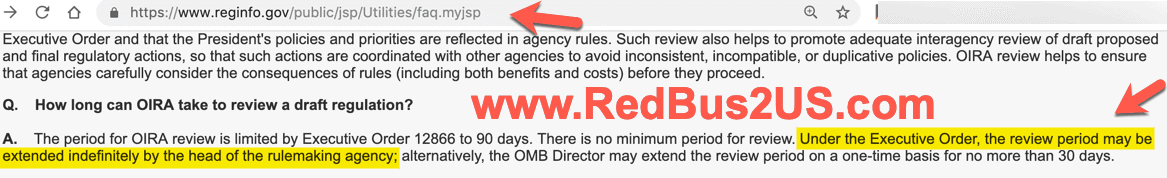 EO 12866 OMB Rule Review - How long can they take