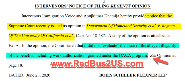 H4 EAD June Update - Court Document Immigration Voice DACA
