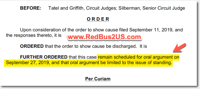 H4 EAD Oral Argument to be conducted Sep 27-2019 Court order