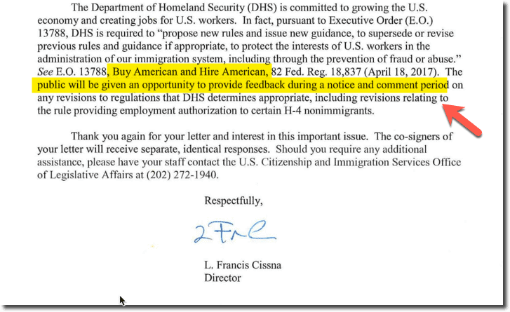 H4 EAD USCIS Updated Secretary April 2018