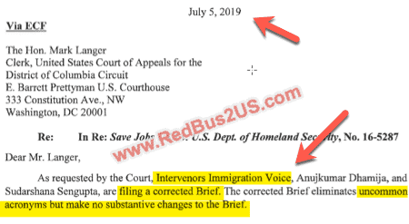 Immigration Voice Corrected Intervenor Brief Filed - July 5-2019