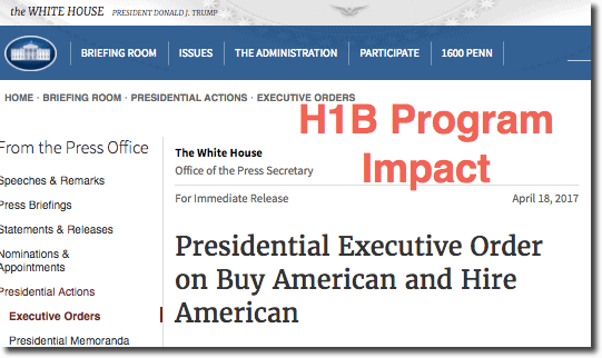 Impact of Trump Signed Executive Order on H1B Visa Program