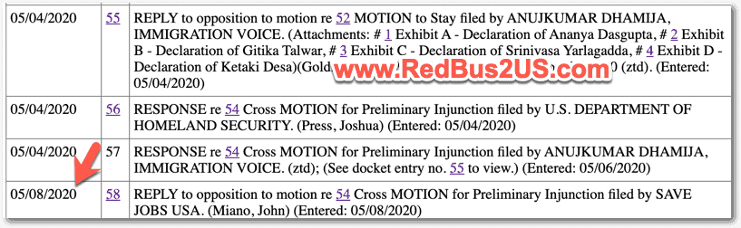 Latest h4 update case - May 2020 Court Docket