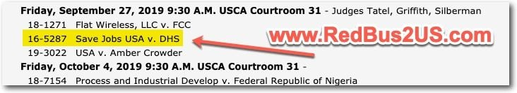 Oral Argument Date September 27 - H4 EAD Case Judges Info