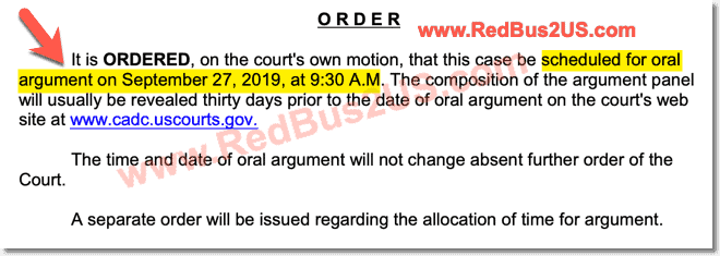 Oral Argument Scheduled H4 EAD Court Case 2019