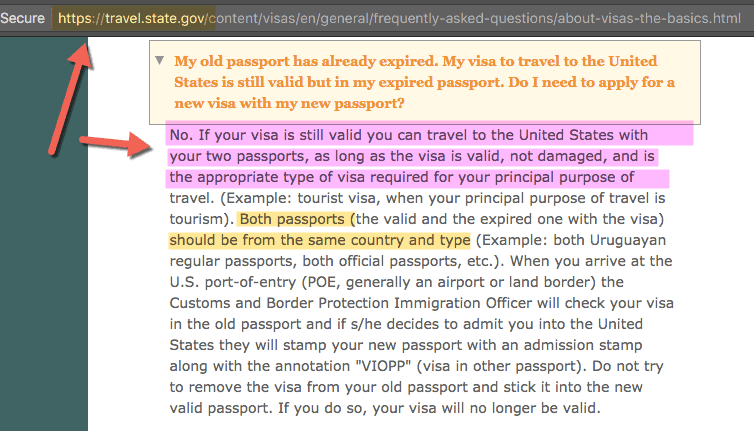 B1 B2 US Visa in Expired Passport - Can you enter America