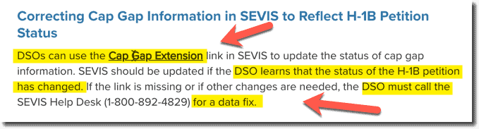 DSO Calling Data Fix update SEVP System