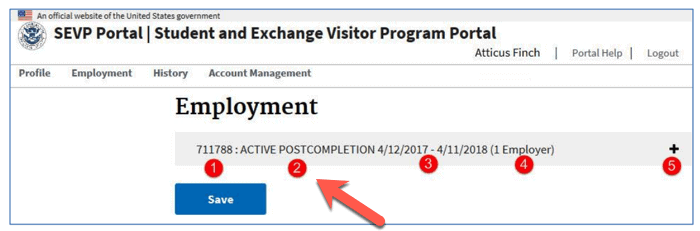 SEVP Portal Post Completion OPT