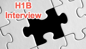 H1B Visa Interview 2018 - Missing DS160 Experience