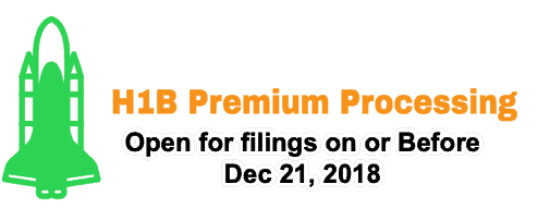 H1B Premium Processing Open for Filings on or Before Dec 21,2018