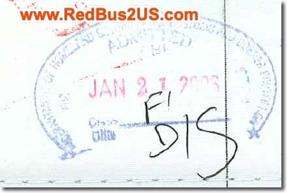 Sample US Port of Entry Stamp by CBP Officer for F1 Visa USA