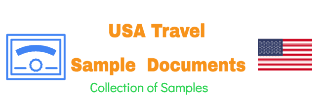 US Travel Sample Documents Collection