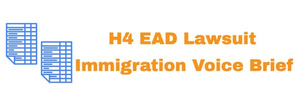 H4 EAD Lawsuit - Intervenor Brief Only Immigration Voice Info