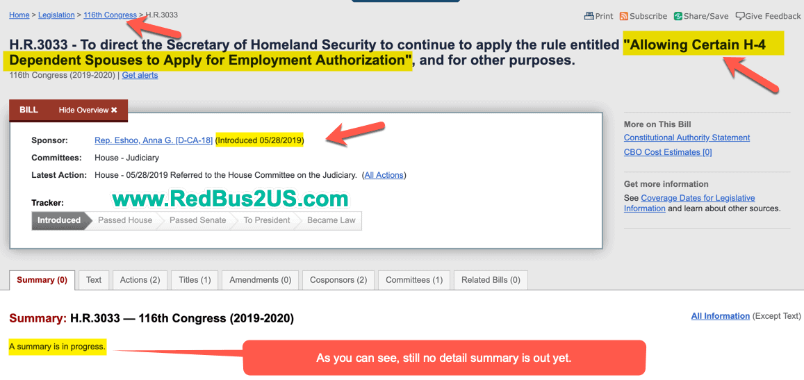 Allowing Certain H4 Dependent Spouses to Apply for Employment Authorization - EAD