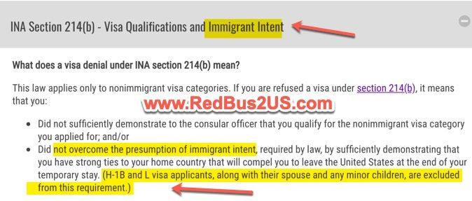 214b Nonimmigrant Intent Denial Reason Info