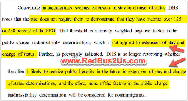 Non-immigrant Extensions Rule of 125 or 250 wage level not applicable