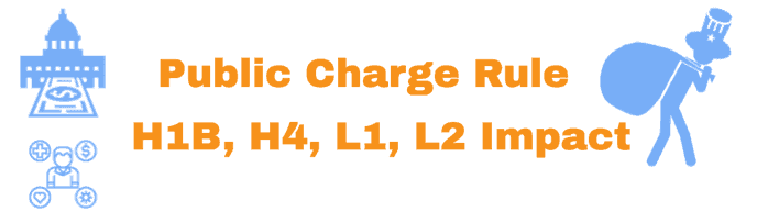 Public Charge Rule Details and Impact for H1B - H4 - L1 Visa holders Info