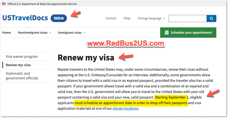 Renew US Visa in India - Dropbox Requirement 2021