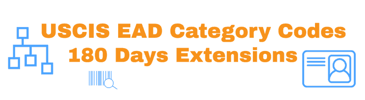 USCIS EAD Category Codes - 180 Days Extension Info article