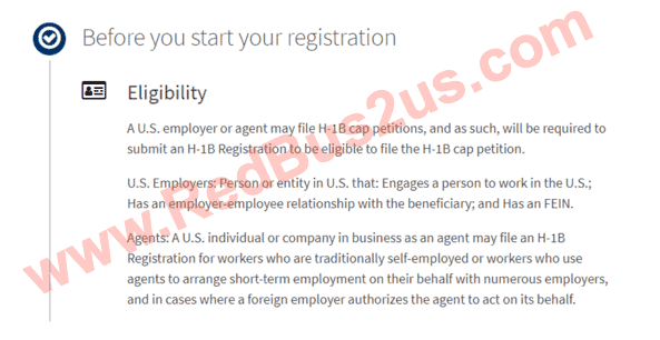 Before you Start Registration - Eligibility