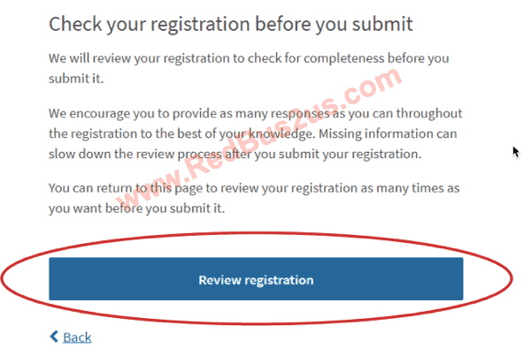 Review H1B Registration by System