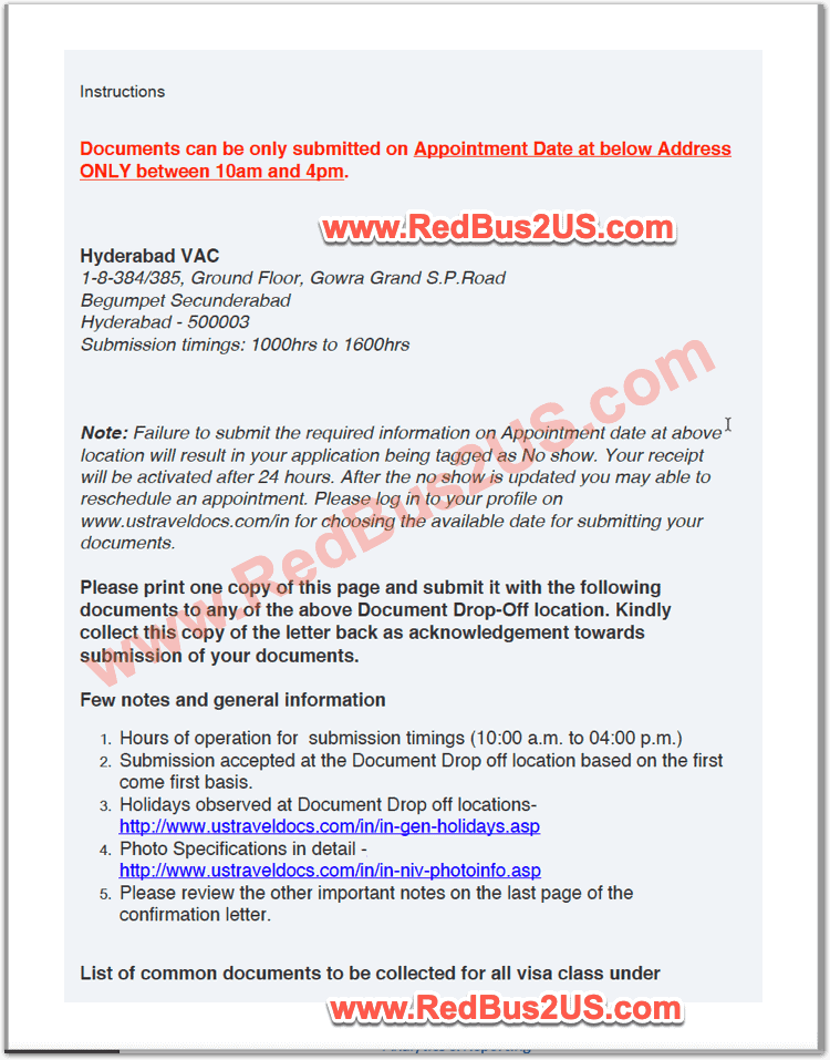 Sample US Visa Dropbox Appointment Confirmation - India - Page 2