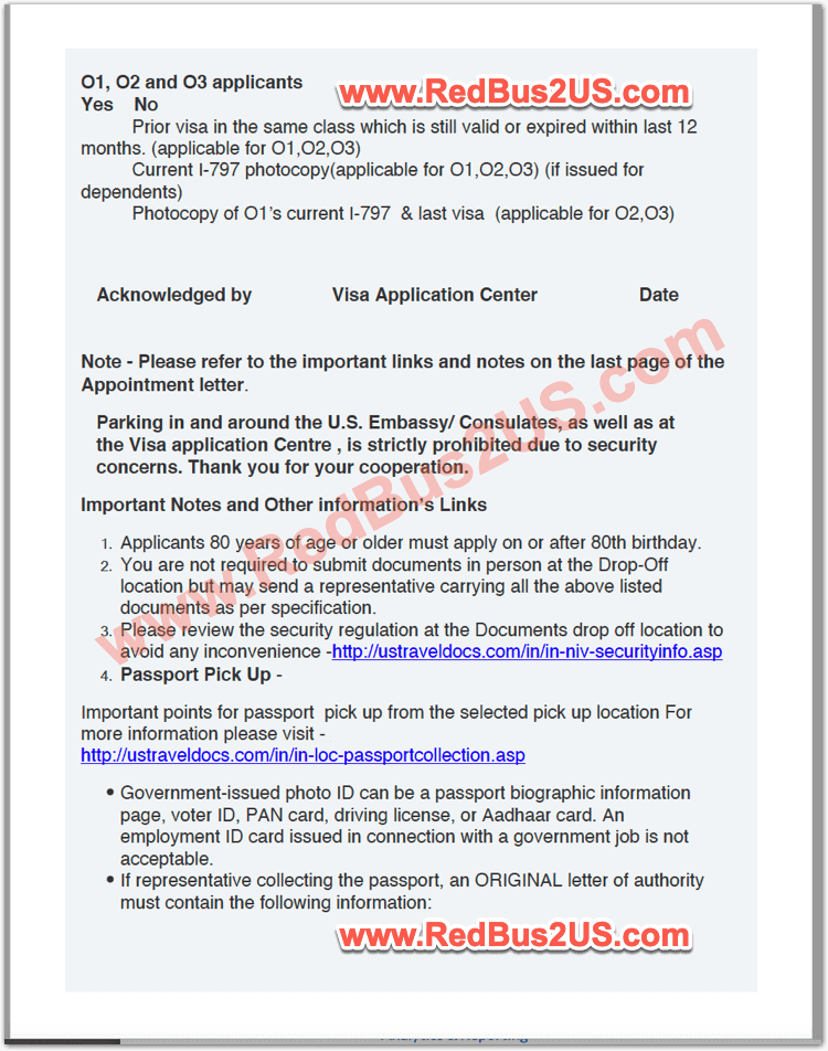 Sample US Visa Dropbox Appointment Confirmation - India - Page 5