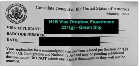 221g Green Slip - H1B Dropbox Article
