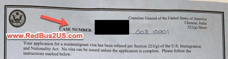 Case Number - US Visa Status Check