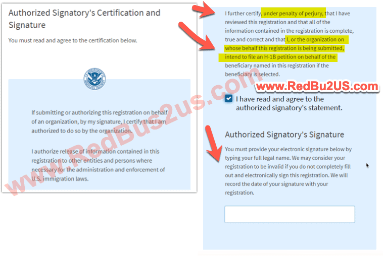 H1B Registration Mandatory Filing - No Withdraw Rule