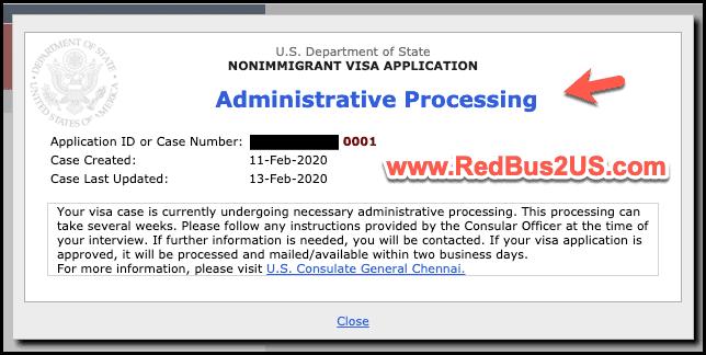 US Visa Status Administrative Processing