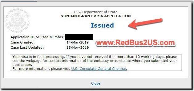 US Visa Status - Issued